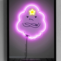 Adventure Time, Lumpy Space Princess, Neon Print, Printable, Poster, Room Decor, Cartoons, Gift for Kids, Teens, Wall, INSTANT DOWNLOAD