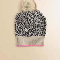 Juicy Couture - Girl's Snow Leopard Knit Hat