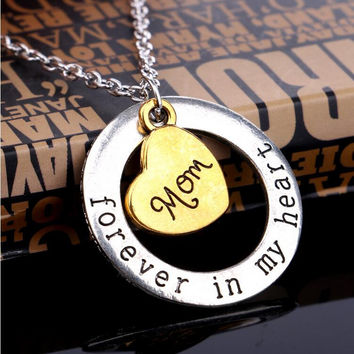 *FREE* Mothers Day Gift _ Dad, Son, Mom, Daughter - Forever In my Heart Necklace