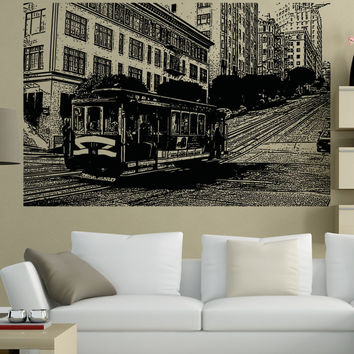 Vinyl Wall Decal Sticker Cable Car Ride #5219