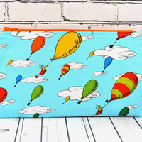 Hot Air Balloon Pencil Case, Dr Seuss Pencil Case, Oh the Places You'll Go, Gadget Bag, Balloons, School Supplies, Makeup Bag
