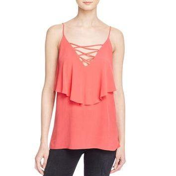 Bailey 44 Womens Indian Ocean Silk Popover Tank Top