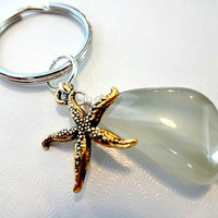 #Accessories #Keychain #Starfish #WireWrapped #MothersDayGift #Mom #Unique #KeyRing