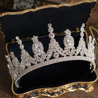 Luxury Tiaras And Crowns AAA CZ Zirconia Princess Pageant Cosplay