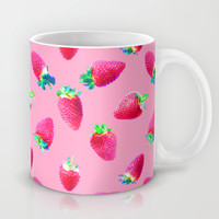 Pink Strawberry Pop Mug by Micklyn | Society6