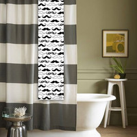 Mustache Shower Tag