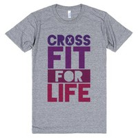 CrossFit For Life-Unisex Athletic Grey T-Shirt