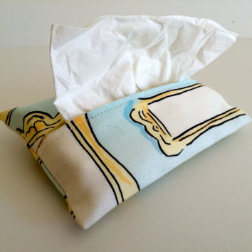 Travel Tissue Holder Kleenex Pouch in Blue Gallery
