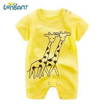 a779106787e5 LONSANT 2018 Baby Summer Jumpsuit Unisex Baby Body Clothes Overa
