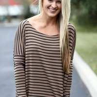 PIKO: Mocha + Black Stripes