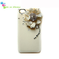 iPhone 4 & 4S mobile handmade hard case Elegant white by RoseNie 97825486
