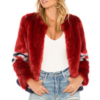 MOTHER Daredevils Run Jacket in Red Hot | REVOLVE