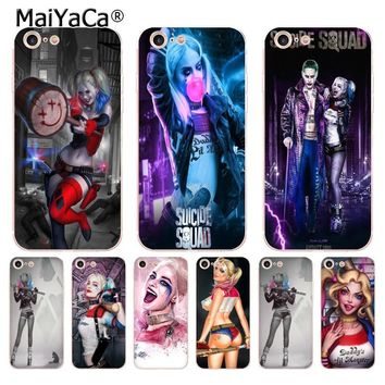 MaiYaCa Suicide Squad Joker Harley Quinn Newest Super Cute Phone Cases for iPhone 8 7 6 6S Plus X 10 5 5S SE 5C case Coque