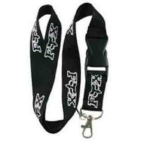 Fox Racing Black Keychain Lanyard
