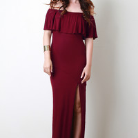 Bardot Flutter Maxi Dress