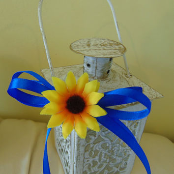 Set of 6 Sunflower Wedding,Wedding Centerpiece,Candle Lantern,Beach Wedding Decor,Wedding Lighting,candleholder,mini lanterns,candle lantern