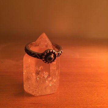 Eye of Protection Antiqued Ring - tumblr ring, profection ring, hippie ring