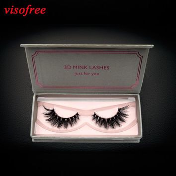 visofree Eyelashes 3D Mink Lashes Handmade High Volume False Eyelashes Full Strip Lashes Mink Lashes Cruelty free Reusable Lash