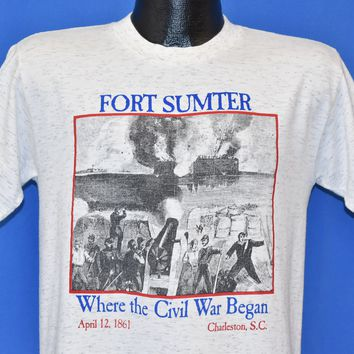 90s Fort Sumter Civil War Began t-shirt Medium