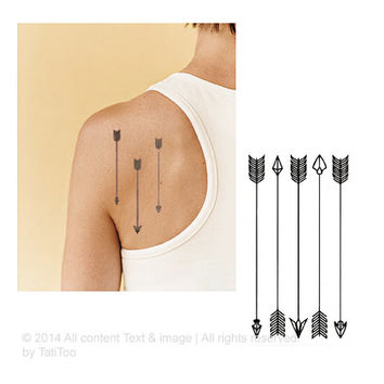 Arrow   -  Temporary Tattoo T110 #temporarytattoo #tattoo