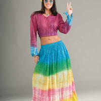 Hippie Halloween Costumes Tie Dye Costume Skirt Adults