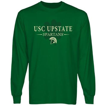 USC Upstate Spartans St. Paddy's Long Sleeve T-Shirt - Green