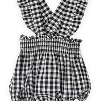 LIL LEMONS | Checkers Baby Overalls - Gingham
