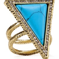 House of Harlow 1960 Triangle Theorem Ring