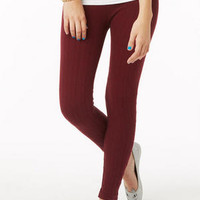 Sweater Legging in Wine