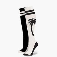 Stance Mini Palm Womens Boot Socks Black/White One Size For Women 25571212501