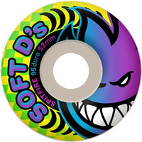 Spitfire Soft D's 95d 54mm White Skate Wheels
