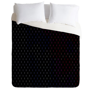 Caleb Troy Arcade Lines Duvet Cover