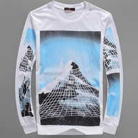 2016 Men's long sleeve t-shirt HOOD BY AIR HBA Pink Floyd Paramount Power printing pullover fashion cotton casual tee shirts