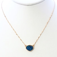 Little Stone Necklace Set In Blue