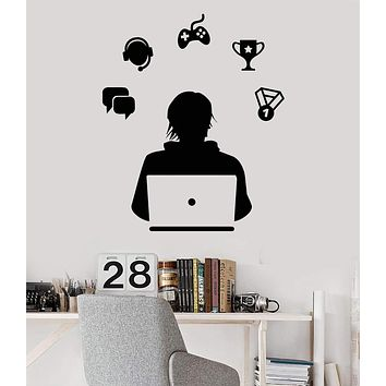 Vinyl Wall Decal Gamer Video Games eSports Laptop Kids Room Stickers Unique Gift (ig3150)