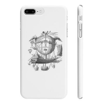 Slim Iphone 7 Plus with Hot Air Balloon Flying Airship Art Print