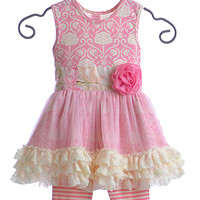 Giggle Moon Simply Beautiful Pink Tutu Dress with Capri