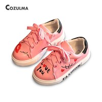 COZULMA Girls Boys Casual Shoes Sneakers 2017 Children Sport Shoes Baby Boys Shoes Kids Letters Lace-Up Running Shoes Sneakers