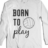 Born to play-Unisex White T-Shirt