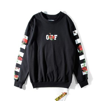 qiyif Off-White ' OFF X Rose ' Sweater