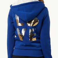 Ombre Love Fuzzy Hoodie
