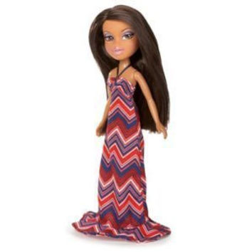 BRATZ Summer Party Outfit & Black Fashion Heels with Paper Doll - Doll Not Included