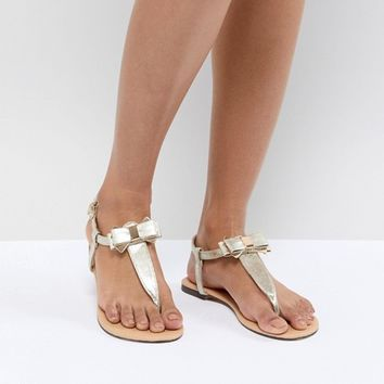Oasis Bow Sandals at asos.com