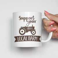 Support Your Local Farm Farmer's Market Mug