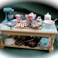 DOLLS HOUSE MINIATURES - Sweet Nostalgia Preparation Table
