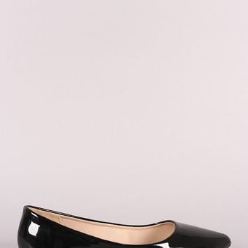 Patent Leather Pointy Toe Flat