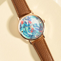 A Lot of Time on Your Land Watch in Cognac | Mod Retro Vintage Watches | ModCloth.com