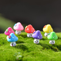 1Pcs Shy mushroom DIY Resin Fairy Garden Craft Decoration Miniature Micro Gnome Terrarium Gift F0047