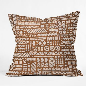 Nick Nelson Northwoods Pattern Throw Pillow