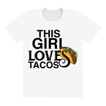 This Girl Loves Tacos All Over Women's T-shirt
